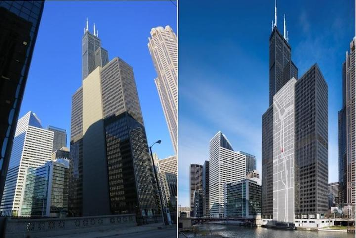 south wacker during the day